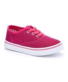 Look what I found on #zulily! Fuchsia Contrast Sneaker #zulilyfinds