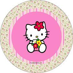 Etiquetas circulares de Hello Kitty