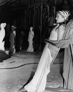 Ingrid Bergman on the set of 'Spellbound' (Alfred Hitchcock, 1945)