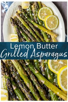 Grilled Asparagus is the best simple and healthy side dish! It's covered in lemon butter and grilled to perfection. Lemon Asparagus is my favorite summer vegetable recipe, made in minutes. Best side dish ever! #thecookierookie #asparagus #vegetables #sidedish #grilledasparagus Grilled Side Dishes, Healthy Side Dishes, Healthy Sides, Summer Side Dishes, Summer Vegetable Recipes, Veggie Recipes, Healthy Recipes, Summer Grilling Recipes, Gourmet