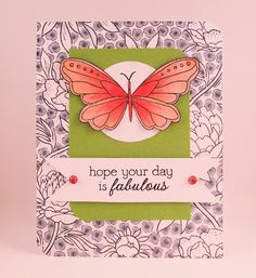 Background using Hero Arts Cling Stamp LARGE FLOWER BACKGROUND 2012