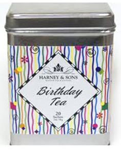 Birthday Tea - A decaffineated tea. Lucious fruit and berry flavors are blended with flowers to create a delightful and yummy crimson cup of tea worthy of a celebration.