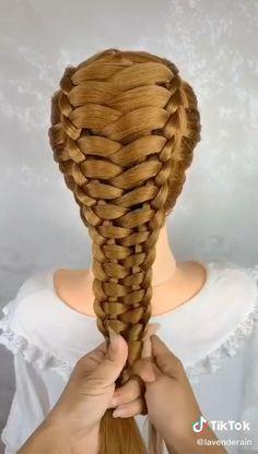 Amazing!                 By: @@lavenderain on TikTok Hairstyles For Medium Length Hair Tutorial, Hair Tutorials For Medium Hair, Easy Updos For Medium Hair, Easy Hairstyles For Long Hair, Braids For Long Hair, Up Hairstyles, Front Hair Styles, Medium Hair Styles, Hair Videos