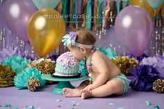 Caralee Case Photography ~ Idaho Falls, ID Child Baby Birthday Photographer  #cakesmash #oneyearpictures #babygirl #purple