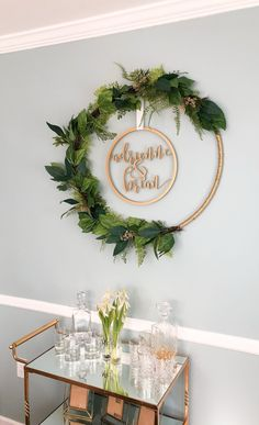 Custom Wedding Sign Hoop Style Circle with Names or Phrase, Wedding decoration Photo Prop Wall Sign for Bride & Groom (Item - Office Christmas Decorations, Ramadan Decorations, Graduation Decorations, Balloon Decorations, Christmas Diy, Wedding Decorations, Ramadan Crafts, Handmade Wedding, Diy Room Decor