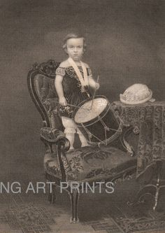 1850s Steel Engraving, The Infant Drummer by NGArtPrints http://etsy.me/1mbrWLx via @Etsy