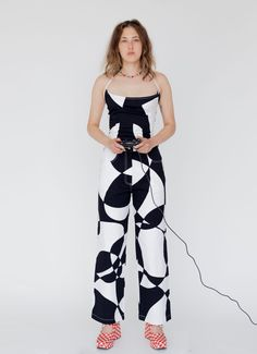 Tyler McGillivary Lula Pant - Contour Print | Garmentory Simple Colors, Black And White Colour, Trousers Women, Workout Pants, Contour, Rose Lily, Universal Works, Love No More, Printed Matter