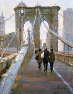 Making Our Way Across by Jennifer McChristian Oil ~ 12 x 16