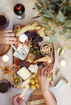 A cheese platter is an essential to any dinner party.