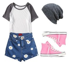 """Simple & sweet"" by christineting16 on Polyvore featuring Aéropostale and Converse"