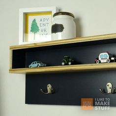How to make a floating coat rack/cubby using a french cleat