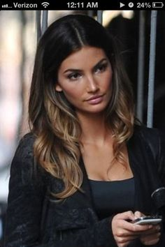 Color of my natural hair on top, but thinking of more caramel tones in a highlighted ombre like this.
