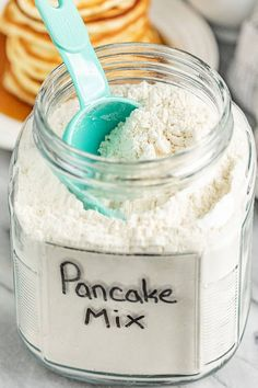 Easy Homemade Pancake Mix (Just add water!) - Easy Homemade Pancake Mix (Just a. - Easy Homemade Pancake Mix (Just add water!) – Easy Homemade Pancake Mix (Just add water! Easy Homemade Pancakes, Pancakes Easy, Pancakes Mix Recipe, Easy Protein Pancakes, Melange A Crepe, Diy Pancake Mix, Fast Food, Easy Food To Make, Savoury Cake