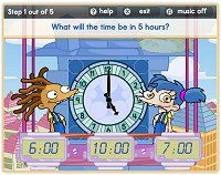 Free time games to help children learn to tell the time, including reading digital and analogue clocks and calculating elapsed time. Lots of activities to make telling the time fun. Fun Math, Math Games, Math Activities, Kids Math, Fourth Grade Math, Second Grade Math, Grade 2, Teaching Time, Teaching Math