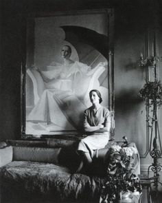 DIANA PHOTOGRAPHED AT HER HOME IN LONDON SITTING IN FRONT OF THE FAMOUS PORTRAIT PAINTED BY WILLIAM ACTON