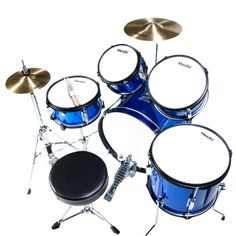 Mendini MJDS-5-BL Complete 16-Inch 5-Piece Blue Junior Drum Set with Cymbals, Drumsticks and Adjustable Throne  http://www.instrumentssale.com/mendini-mjds-5-bl-complete-16-inch-5-piece-blue-junior-drum-set-with-cymbals-drumsticks-and-adjustable-throne-3/
