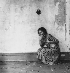 Francesca Woodmann,  Polka Dots, Providence, Rhode Island, 1976. Gelatin silver print, 13.3 x 13.3 cm. © George and Betty Woodman