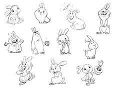 Animal Character Designs on Behance Rabbit Cartoon Drawing, Bunny Drawing, Bunny Art, Character Design Animation, Character Drawing, Character Illustration, Animal Drawings, Cute Drawings, Rabbit Illustration
