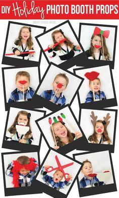 DIY Holiday Photo Booth Props