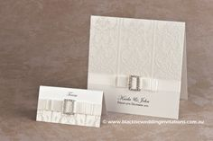 White Wedding : Invitation  http://blacktieweddinginvitations.com.au/galleries/classic-wedding-invitations/white-wedding