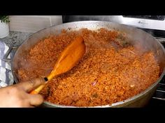 How to cook jollof rice for a get together.| Nigerian Party Jollof Rice |Cook With Me. - YouTube All Nigerian Recipes, Nigerian Food, Rice Dishes, Main Dishes, Yellow Rice Recipes, Goat Meat, Jollof Rice, Instagram Handle, Ethnic Recipes