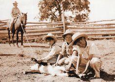 Calf Roping 1920's Cowkids