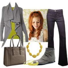 """""""Lime Greys"""" by heather-rolin on Polyvore"""