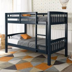 Extend your childs sleeping space with the Dakota Collection twin/single bunk bed from CorLiving. This well constructed bunk bed features timeless styling that will last for years. A great space-saving solution, this bed easily converts into two indi Bunk Beds Boys, Bunk Beds With Stairs, Cool Bunk Beds, Kid Beds, Loft Beds, Single Bunk Bed, Home Bedroom Design, Bedroom Ideas, Bedroom Decor