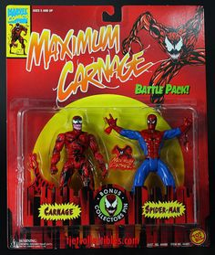 Carnage & Spider-Man Maximum Carnage Battle Pack Action Figure 2-Pack MOC…