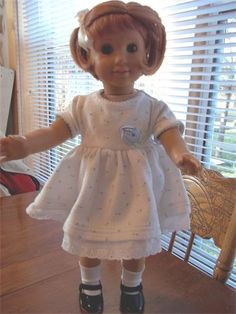 White Pique Dress for sale at Patches Dolls