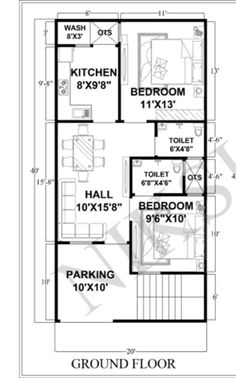 20 X 40 House Plans Luxury Pin by Carmen Miranda On Planos 2bhk House Plan, House Plan With Loft, Model House Plan, Simple House Plans, House Layout Plans, Duplex House Plans, Best House Plans, House Floor Plans, North Facing House