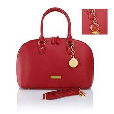JOY & IMAN 21-Section Genuine Leather Handbag & Watch, Mine is teal....love it!!!