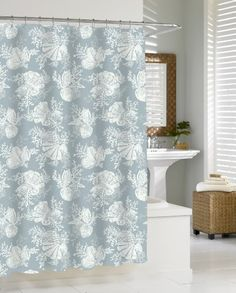 Kassatex SHS115SMS Shells Shower Curtain Seamist Details Can Be Found By Clicking On The