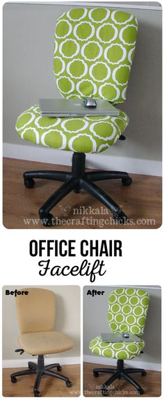 How to recover an office chair via @craftingchicks
