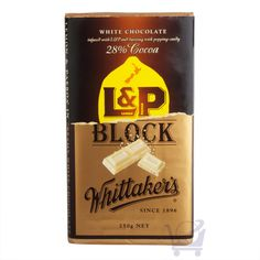 L White Chocolate Block – Whittaker's – Kiwiana, Confectionery, White Chocolate, New Zealand, Cocoa, Sweets, Australia, Shop, Maori