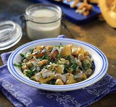 Warm Pumpkin and Chickpea Salad with Tahini Dressing by Greek chef Akis Petretzikis. A great choice if you are looking for a tasty veggie or dairy free recipe! Dairy Free Recipes, Vegetarian Recipes, Cooking Recipes, Winter Salad, Tahini Dressing, Chickpea Salad, Salad Bar, Pumpkin Recipes, Plant Based Recipes