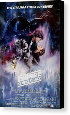 Star Wars Canvas Print featuring the digital art The Empire Strikes Back by Baltzgar