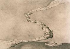 Como un relámpago II (2006) Dibujo 50 x 35 Cm.