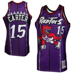 8454c241b Mitchell   Ness Vince Carter Toronto Raptors 1998-1999 Throwback Authentic  Jersey - Purple