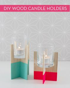 Make It: Balsa Wood Candle Holders Without A Saw