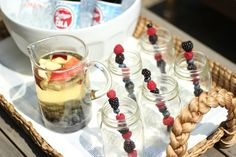 """4th of July """"Star-Spangled"""" Sangria Recipe   Star Apples & Blueberries"""