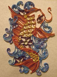 Quiller Koi - Paper quilling art Custom Build. $80.00, via Etsy.
