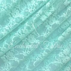 Lightweight and Sheer Bridal Lace Floral Lace by EnchantedFabric