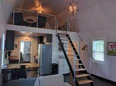 Tiny house full height loft. Barn roof.  Built by me!