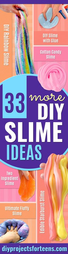 Diy Schleim Ideen 33 Incredibly cool DIY slime ideas # cool # slime ideas # unbelievable Victoria's Make Slime At Home, Slime For Kids, How To Make Slime, Making Slime, Slime No Glue, Glitter Slime, Diy Slime, Slime Craft, Borax Slime