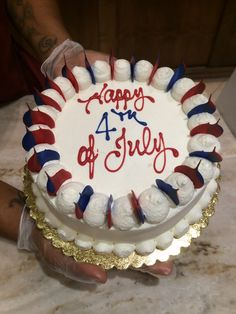 Fourth of July Cake from La Baguette, San Francisco.