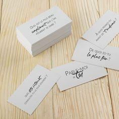 """Découvrez """"Parle-moi de toi"""", un jeu de cartes spécialement créé pour les couples © La vie, l'amour"""