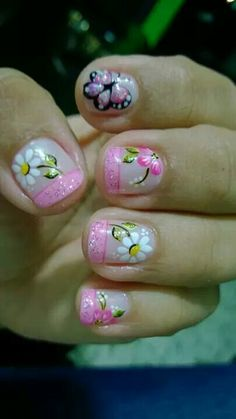 Super nails design tips unique ideas Diy Nail Designs, Short Nail Designs, Acrylic Nail Designs, Art Designs, Beach Nail Art, Beach Nails, Pink French Manicure, Nail Art For Beginners, Trendy Nail Art