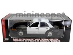 MOTORMAX 2001 FORD CROWN VICTORIA UNMARKED POLICE CAR 1/18 BLACK WHITE #Motormax #FORD
