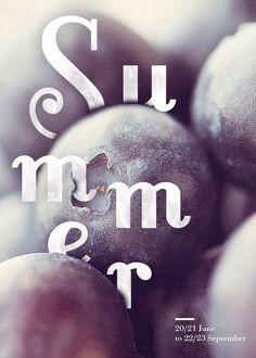Four Seasons Typographic Posters — Designspiration